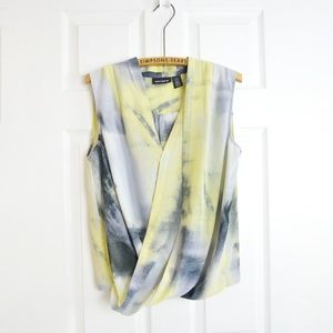 DKNY Yellow Draped Blouse